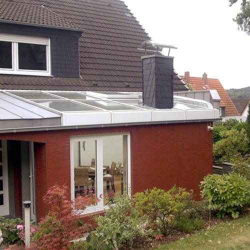 Dach für einen Wintergarten - Aussenansicht