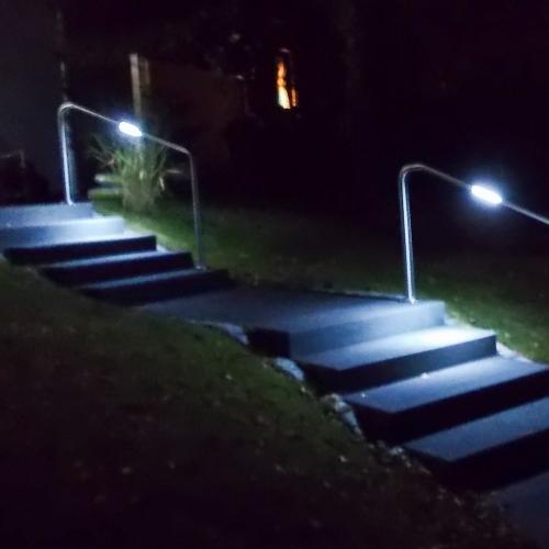 Nachts: Licht da wo Sie es brauchen, direkt auf den Stufen